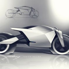 sketch for fun on Behance car and motorcycle design Futuristic Motorcycle, Futuristic Cars, Motorcycle Clubs, Bike Sketch, Car Sketch, Concept Motorcycles, Custom Motorcycles, Bmw Motorcycles, E Motor