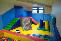 Wood or Metal Playground Equipment? – Playground Fun For Kids Indoor Playroom, Kid Playroom, Unfinished Basement Playroom, Garage Playroom, Gymnastics Room, Soft Play Area, Indoor Play Areas, Kids Indoor Playground, Sensory Rooms