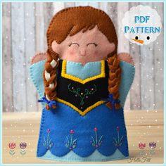 Set of 2 PDF Pattern Princess Elsa and Princess Anna por HelloFelt