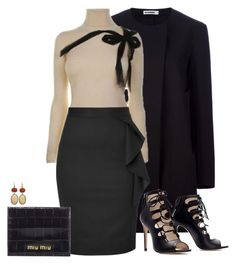 work wear little black skirt by tapshoesboutique on Polyvore featuring polyvore, fashion, style, RED Valentino, Jil Sander, Viktor & Rolf, Zara, Miu Miu, Irene Neuwirth and clothing