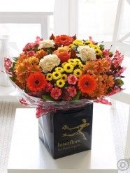 Celebrate the season with our stunning autumn flowers collection, featuring rich warm shades of roses, chrysanthemums, lisianthus and gerberas. Send Flowers, Fall Flowers, Hand Tied Bouquet, Wonderful Flowers, Chrysanthemum, Flower Delivery, Most Beautiful, Floral Wreath, Glow