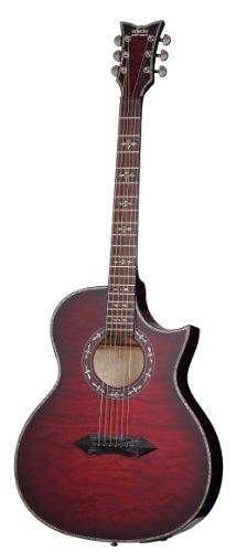 Amazon.com: Schecter Hellraiser Stage 6-String Acoustic-Electric Guitar, Black Cherry: Musical Instruments