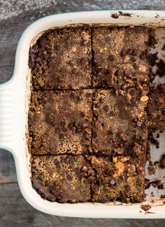 Fudgy Vegan Peanut Butter Buckwheat Sweet Potato Brownies