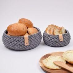 Ravelry: Ribbon Bread Basket pattern by Hobbii Design Crochet Home, Knit Or Crochet, Chrochet, Crochet Stitches, Free Crochet, Beginner Crochet, Knitting Patterns, Crochet Patterns, Sewing Patterns