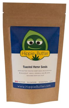 Hippie Butter Organic Toasted Hemp Seeds are nutritious, delicious and seasoned with sea salt. Shake, sprinkle, bake and grind into your favorite recipes. Our Organic Toasted Hemp Seeds also make great additions to trail mix and granola! $6.49