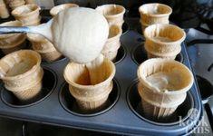 ice cream cone cupcake Ice Cream Cone Cupcakes ingredients: 2 cups self raising flour 1 ½ cup caster (white) sugar 1 teaspoon baking. Cupcake Cones, Cupcake Wars, Sweet Pie, Ice Cream Party, Baking Cupcakes, Ice Cream Recipes, High Tea, Cake Cookies, Kids Meals