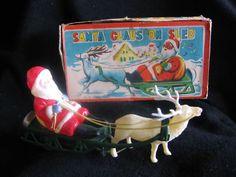 Vintage Wind up Santa Claus