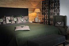 MOUNTAIN DELUXE_bed_green_3940_print Green Bedding, Modern, Pillows, Design, Furniture, Home Decor, Ema, Houses, Mountain