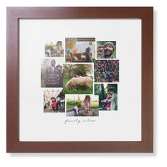 Gallery Collage of Nine Framed Print, Brown, Contemporary, White, White, Single piece, 12 x 12 inches