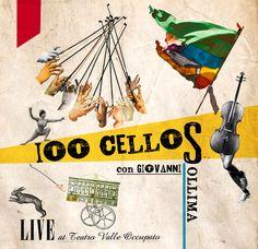 """Music Graphic - Artwork by Marisa Dipasquale """"100 Cellos con Giovanni Sollima Live at Teatro Valle Occupato"""" http://cargocollective.com/piramida/music-graphic"""