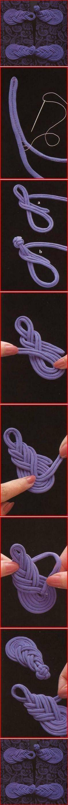 Arte & Reciclaje: Nudo chino usado como botón.