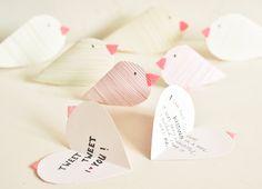 lovebirds valentines craft