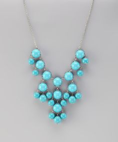 Take a look at this Turquoise & Silver Bubble Necklace by 2 Crystal Chicks on #zulily today!