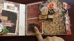 *Prima Romance Novel Mini Album* Chunky mini album just like I like to create. omgosh I uv this sooooo much, its beautiful! Mini Albums, Mini Scrapbook Albums, Altered Books, Altered Art, Paper Art, Paper Crafts, Chipboard Crafts, Pocket Pal, Handmade Books