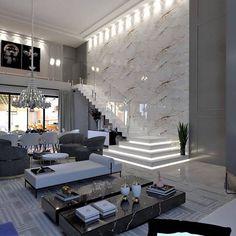 Home Stairs Design, Home Building Design, Home Room Design, Dream Home Design, Interior Design Living Room, Living Room Designs, Room Interior, Design Interiors, Apartment Interior