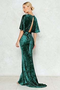 Nasty Gal nastygal Crush It Velvet Dress Trendy Dresses, Nice Dresses, Casual Dresses, Velvet Bridesmaid Dresses, Emerald Dresses, Evening Dresses, Prom Dresses, Dress Outfits, Fashion Outfits