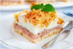 Szarlotka z pianką budyniową - I Love Bake Pie, Sweets, Baking, Torte, Cake, Gummi Candy, Fruit Cakes, Candy, Bakken
