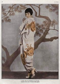 Actress and fashion icon, Louise Brooks.oriental fashion was making an impact in the Louise Brooks, Paul Poiret, Style Année 20, Mode Style, Art Deco Fashion, Retro Fashion, Vintage Fashion, 1920s Fashion Women, Retro Mode