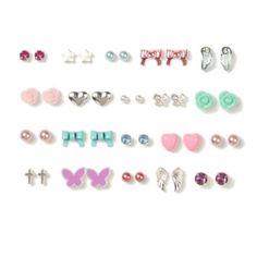 Assorted+Pastel+Sweet+Stud+Earrings+Set+of+20
