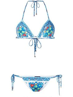 Shop Dolce & Gabbana 'Majolica' print bikini in Parisi from the world's best independent boutiques at farfetch.com. Shop 400 boutiques at one address.
