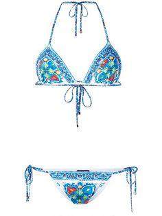 DOLCE & GABBANA Majolica Print Bikini. #dolcegabbana #cloth #bikini