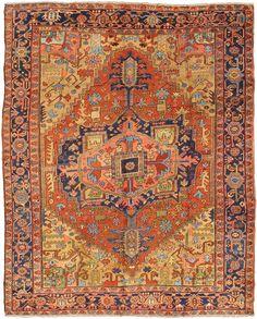 "Persian Heriz Serapi rug, 9'0""X11'4"", 1920, Keivan Woven Arts Gallery"