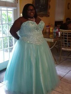d3300f2c37cb4 Ball Gown Sweetheart Sleeveless Beading Floor-Length Organza Plus Size  Dresses - Plus Size Prom Dresses - Prom Dresses - Hebeos Online
