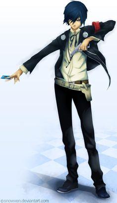 Persona 3 MC/Minato Arisato/Makoto Yuki by Snowven