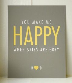 Quotes About Love : yellow and grey yum!