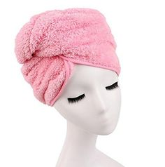 Shintop Microfiber Super Absorbent Dry Hair Cap Shower Hat for Bath Spa (Pink) - Brought to you by Avarsha.com