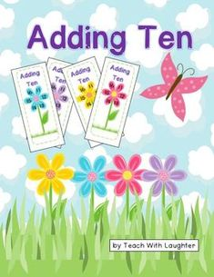 """Please enjoy this free download.  I hope your students find it a fun AND engaging way to practice 'Adding Ten'.  Students work in pairs or in a small group to be the first to cover their card.  An """"I can...' card is included to help keep students on task."""