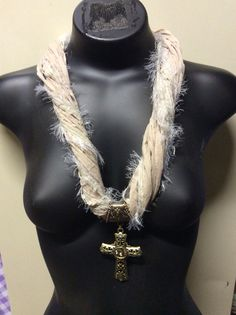 Beige necklace with cross pendant Beige Necklaces, Cross Pendant, Cuffs, Chain, Accessories, Jewelry, Fashion, Jewellery Making, Moda