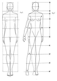 Lezione 1: Proporzioni figura umana - fashion moda mia figurini tecniche grafiche sketchbook mood board