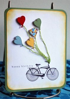 like the bike...could be gift packages or kites etc.
