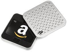 Amazon.com $25 Gift Card in a Diamond Plate (Classic Black Card Design)