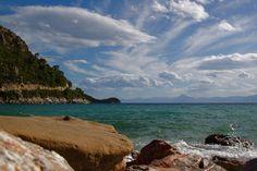 Heaven and sea, Limnonari, Skopelos. Dec 25 2010.