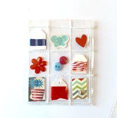 Patriotic Mini Pocket Letter Planner Charm by Jackie Benedict