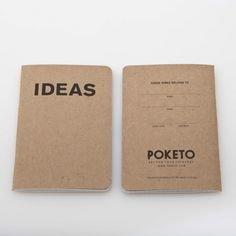 ideas book by poketo. was skeptical about these, but picked some up last week and love the feel of them - useful for short term projects / idea stacks