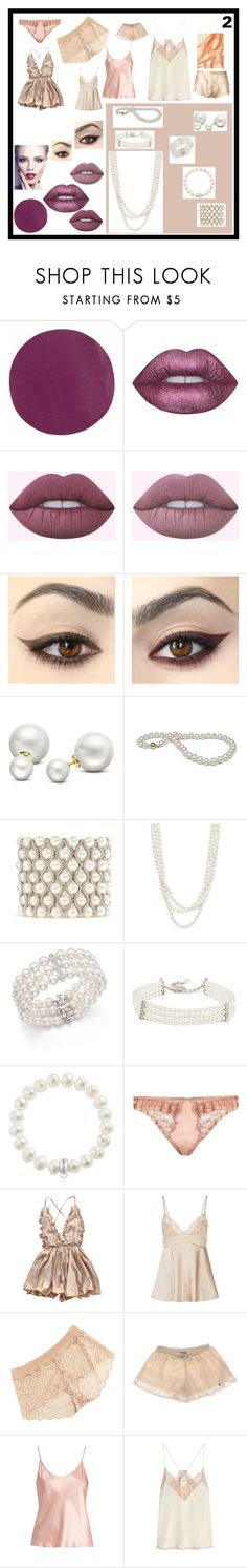 """shoot"" by crystelpi on Polyvore featuring mode, Kevyn Aucoin, Lime Crime, Allurez, Kenneth Jay Lane, Bloomingdale's, Thomas Sabo, Fleur of England, La Perla et Commando"
