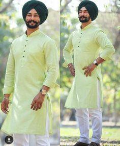 blue kurta pajama punjabi turban sikh stylish handsome men ...