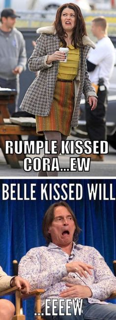 The first one was gross but I was happy about the second one because Rumple betrayed  her so forgive me for wanting her to move on.