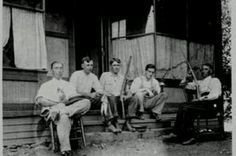My great-grandfather, Eugene Tuckwiller,  sitting with Sid Hatfield and the Hatfield clan in Matewan, WV (photo courtesy of my cousin Amelia Tuckwiller and second cousin Gordon)