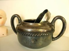 1943 U.S. Navy Silver Plated Hollow Ware Sugar Bowl by JackpotJen