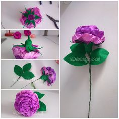 rose in carta crespa 6 modi per realizzarle facilmente - manifantasia Paper Flowers Wedding, Tissue Paper Flowers, Diy Flowers, 3d Origami, Paper Folding, Girly Things, Birthday Parties, Delicate, Paper Crafts