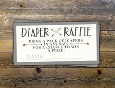 POW WOW Baby Shower diaper raffle ticket Teepee by LyonsPrints
