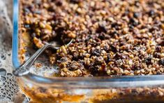 This paleo easy healthy sweet potato casserole with pecan topping is the best side dish for Thanksgiving! Vegan-friendly and gluten/grain/dairy/egg/sugar-free!