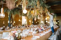 An Autumn Fairytale - hanging florals. Reception decor.  An Autumn Fairytale - brides bouquet.  #receptiondecor #hangingflorals #autumnwedding #autumnreceptionideas  Photography: Tasha Secombe