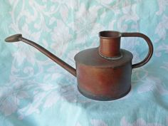 Vintage ENGLISH Copper  WATERING CAN by JleCROW on Etsy