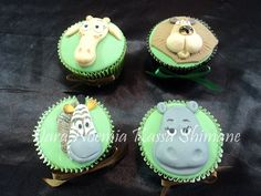 Madagascar themed cupcakes will be a great seller for your movie night - Southern Outdoor Cinema tip for selling more concession at an outdoor movie event.