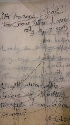 textile poetry by Maria Wigley all rights reserved - embroidery , Textile Art